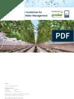 Best Practice Water Management