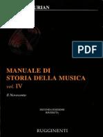 Elvidio Surian - Manuale Di Storia Della Musica Vol. IV - Il Novecento