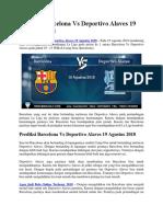 Prediksi Barcelona vs Deportivo Alaves 19 Agustus 2018