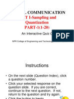 Multiple choice question digital communication