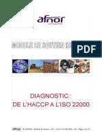 ISO 22000 Module de Soutien n 2 Diag HACCP Selon ISO 22000