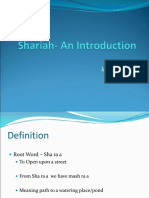 Presentation on Shariah Law