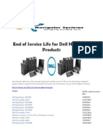 End of Service Life for Dell Hardware Products