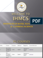 INSTITUTE OF HOTEL MANAGEMENT & CATERING SCIENCE (IHMCS)
