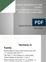 Understanding Harmony in the Family
