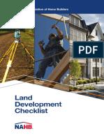 Land Development Checklist