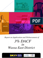 Application and Disbursement of 3 Percent DACF in Wassa East