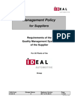 Management Policy for Suppliers
