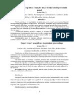 Raport de expertiză ca mijloc de probă în cadrul procesului penal.docx