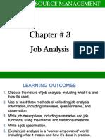Job Analysis (Chap 3)