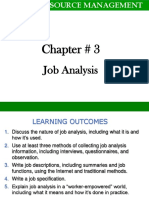 Job Analysis (Chap 3)