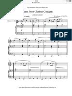 Clarinet Concerto, II Mov.