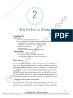 Uses of Focus Group