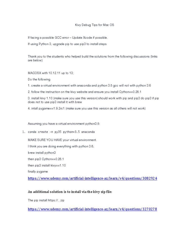 029 Kivy Debug Tips for Mac OS