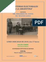 sistemas electorales en argentina