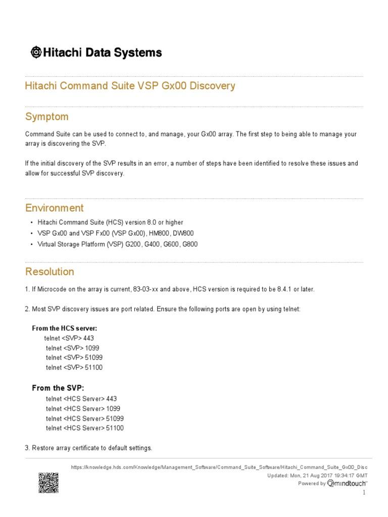 Hitachi+Command+Suite+VSP+Gx00+Discovery | Computer Data | Computer