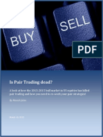 Is Pair Trading Dead