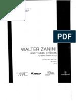 WALTER ZANINI Escrituras Críticas Como Livro
