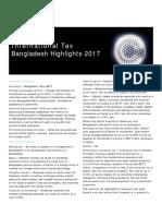Deloitte Bangladesh Tax Higlight 2017