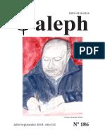 Aleph. Revista No. 186 .  Julio / Septiembre 2018. Año LII.