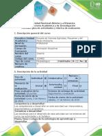 Guía de Actividades y Rúbrica de Evaluación Pretarea