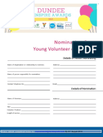 Young Volunteer of the Year 2018