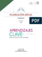 Plan Anual 2018 Matemáticas 1 Secundaria