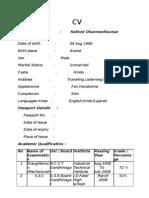 DHARMESH CV