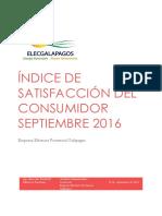 Informe Índice de Satisfacción Al Consumidor 2016