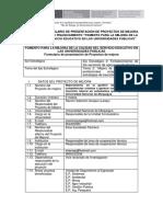 Formulario de Proyecto 3, Seguimiento e Incubadoras