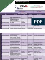 Presentation Schedule(Tokyo, Japan 8th July 2018)IASTEM