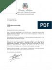 Carta de condolencias del presidente Danilo Medina a Ivelisse Gatón viuda González por fallecimiento de su esposo, Julio Amable González Hernández