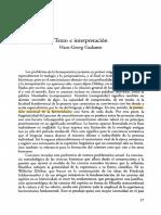 Gadamer texto e interpretación