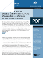 An Investigation Into the Effective and Ethical Interviewing of Suspected Sex Offenders 2006