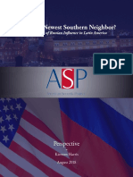 Americas Newest Southern Neighbor? An Analysis of Russian Influence in Latin America