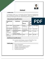 CV -- Vaishali Roy
