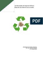 reciclando papel