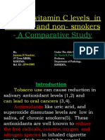 Vitamin c levels in smokers and non-smokers - A comparative study.