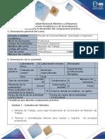 Guía Para El Desarrollo Del Componente Práctico Fase 4 Desarrollar Componente Práctico Presencial