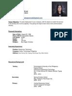 my lovely resume