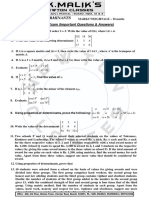 Maths Notes Xii Determinants Board Exam Imp QUESTION)