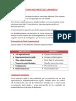 Estructuras Mecanicistas y Organica1