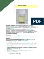 Cloruro de Sulfurilo