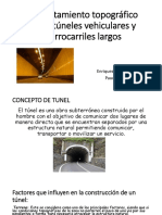 LEVANTAMIENTOS TOPOGRAFICOS TUNELES VEHICULARES