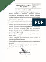 Objetivos Control Del Riesgo