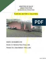 Plan Epidemiologico Sector Calle Real 2018
