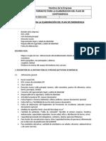 Formato de Plan de Emergencia 2017