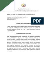 Juzgado Séptimo de Bogotá Condena a José Miguel Narváez por el asesinato de Jaime Garzón