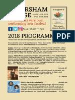 Faversham Fringe 2018 Programme