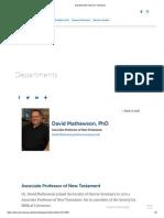 David Mathewson Denver Seminary Bio